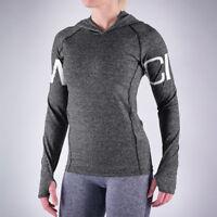 Women Sport Workout Hoodie Quick Dry Yoga Casual Long Sleeve Sweatshirt Tops US