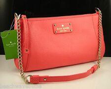 Kate Spade Adela Berkshire Road Coral Leather Shoulder Hand Bag