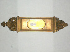 "Antique Eastlake Victorian Pocket Door Pull 10 1/2"" x 2 1/2"" Stamped 3278"