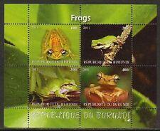 Frog Amphibians MNH M/S of 4 stamps FROG05