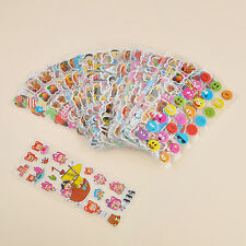 10Pcs Kawaii Cartoon Removable Sticker Children 3D Pictures Wall Decal Decor DIY