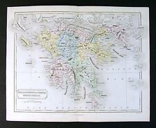 1867 Weller Map - Graecia Peloponnesus - Ancient Greece Athens Sparta Corinth