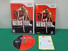 Nintendo Wii -- REDSTEEL -- gun. Katana. popular action. *JAPAN GAME* 47787