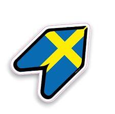 Autocollant de voiture Wakaba Wak Young Driver nouvelle feuille avec Suède suédois drapeau Drift JDM