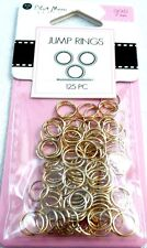 Blue Moon Beads - JUMP RINGS - Gold Finish 7 mm - 125 pieces