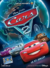 Affiche 120x160cm CARS 2 / DISNEY - PIXAR (2011) Brad Lewis, John Lasseter NEUVE