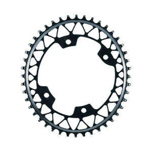 Absolute Black Oval Gravel 1x Chainring 50T 110 BCD 4 Bolt Grey Brand New