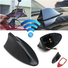 Shark Fin Roof Antenna Aerial FM/AM Radio Signal Decoration Car Trim Black