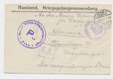 Mewe Gniew Polen Poland  Offiziers Kriegsgefangenenlager  Feldpost 1916 WW1 (392