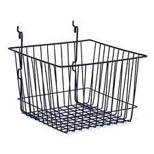 """New Retails Black Basket fits Slatwall,Grid,Pegboard 12""""w x 12""""d x 8""""h"""