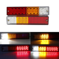 2X 20 LED Tail Lights Trailer Caravan Truck Stop Reverse Indicator Rear Lamp 24V