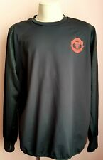 Manchester United Training Top Black Adidas climawarm S96142