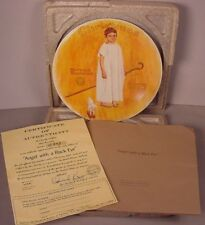 Norman Rockwell Collector Plate Christmas 1975 Angel with a Black Eye MIB