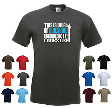 'This is What an Awesome Brickie Looks Like' Mens Funny Bricklayer t-shirt