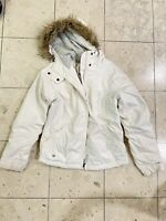 Columbia Cream Winter Soft Fleece Lined Faux Fur Hood Jacket Coat Women's Size S