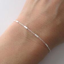 Bracelet fin maille fantaisie argent sterling 925/1000e BR194