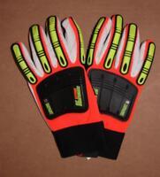 Knucklehead driller X10 Glove, Orange, Size Large (21262HO)