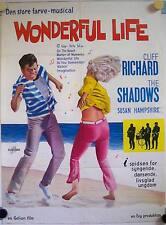 Wonderful Life Küß mich mit Musik Dänisches Filmposter Cliff Richard, Hampshire