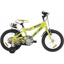 "Bici 16"" ATALA TEDDY BOY BAMBINO / BIMBO VERDE / NERO IDEA REGALO NATALE"
