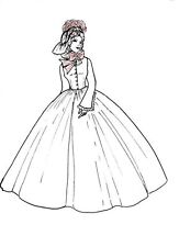 "Long vintage Victorian Dress  PATTERN fits 11.5"" BARBIE doll Fashion  B5"