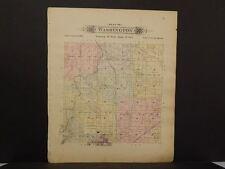 Missouri Vernon County Map Washington or Lake Township 1903 Dbl Side  L10#95
