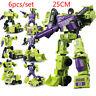 6Pcs/set Transformers Construction Vehicle Robot Combiner Devastator Figure Toys