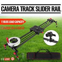 "31.5"" DSLR Camera Track Rail Slider Video Stabilizer 80cm Camcorder Dolly PRO"