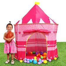 Pink Pop up Play Tent Castle Playhouse Kids Girls Children Outdoor/Indoor Games