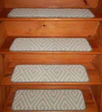 "13 = STEP 9"" x 30"" + Landing 30"" x 30"" Stair Treads Staircase WOVEN WOOL."