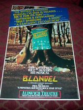 Blondel featuring The Fabulous Blondettes London Theatre Window Card
