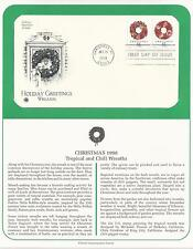 # 3247 & 3248 CHRISTMAS, WREATHS: CHILI PEPPERS & TROPICAL  1998 First Day Cover