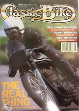 Classic Bike Magazine August 1992 BSA 100mph Scrambler Triumph Trident Six Ariel