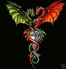 DRAGONS AND GOBLET CROSS STITCH CHART, BN! (D011)