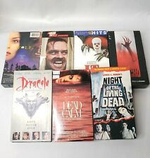 Horror Movie VHS Lot Stephen King IT The Shinning Night of The Living Dead Wolf
