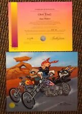 "Looney Tunes ""Easy Widers""  Cel Signed Chuck Jones Motorcycle Harley Davidson"
