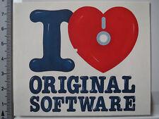 Aufkleber Sticker I Love Original Software Raubkopien (3683)
