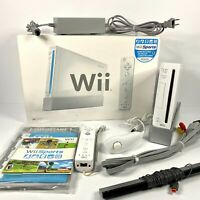 Nintendo Wii Sports Console Bundle w/ Box & Wii Sports Game  - Tested