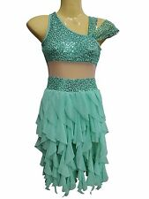 Green mint lyrical ballet dance performance costume new size Adult small (AS)