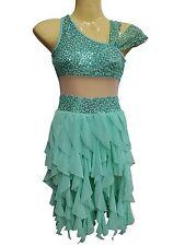 Dance teachers set of 15 green mint lyrical ballet dance costume  new