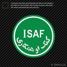 ISAF Sticker Die Cut Decal Self Adhesive Vinyl NATO International Security