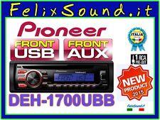 """PIONEER DEH-1700UBB  SINTO/CD/MP3/USB + AUX  """" NUOVO Modello 2015 """""""