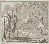 CHODOWIECKI (1726-1801). Idris im Harnisch vertreibt den bösartigen Zentauren 1