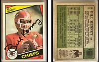 Bill Kenney Signed 1984 Topps #92 Card Kansas City Chiefs Auto Autograph