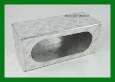 "Aluminum Diamond Plate Light Box Guard Trailer Single 6"" Oval  Incandescent LED"