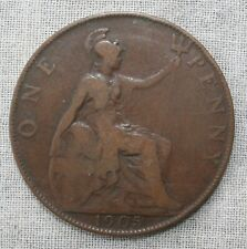 1905 Great Britain One Penny Coin