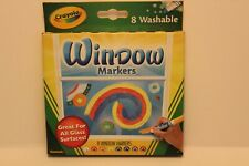Crayola Washable Window Markers, Crystal Effects, Car Window Markers, 8 Count