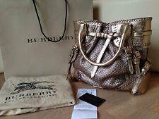 Burberry Regent Street Collection Limited Rare Bag Alligator Cow Goat Leather