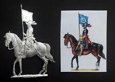 Flachfigur Zinnfigur 30 jähriger Krieg Kürassier mit Standarte Maßstab 54mm
