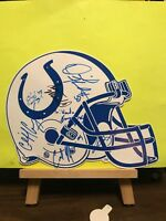 Pre-owned ~ Indianapolis Colts Signed Cardboard Helmet (9 Autographs, Signatures
