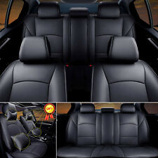 Durable PU Leather Black Seat Covers For Ford F-150 2010-2016 Front+Rear Set